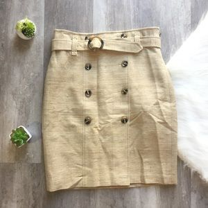 Ann Taylor Button Front pencil skirt with belt